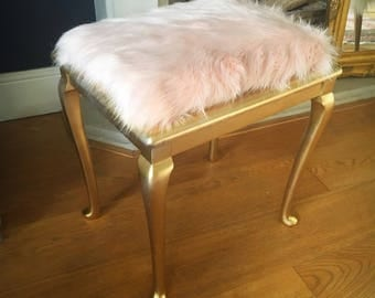 A Faux fur dressing table stool now sold!!