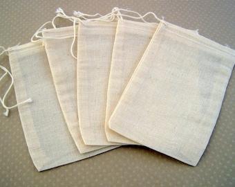 Set of 5 Pocket made of cotton 12, 5 x 7, 5cm - S-0176