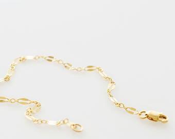 Delicate Lace Chain Bracelet - 14k Gold Fill, Sterling Silver Lace Chain Bracelet - Layering Chain Bracelet - Minimal Bracelet