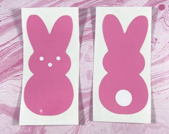 Peep decal, Easter Bunny Decal, Easter Peep Decal, Marshmallow Peep Decal