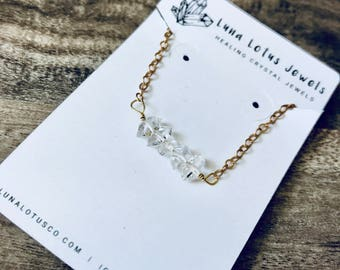 Herkimer Diamond Delicate Necklace