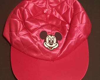 Vintage Adult Hot Pink Disney Characters Mickey Mouse Hat One Size