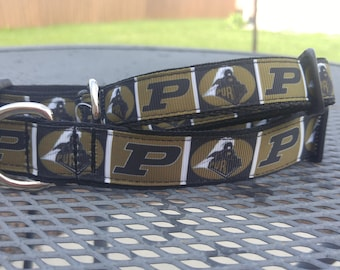 Purdue Boilermakers college team inspired dog collar or bandana