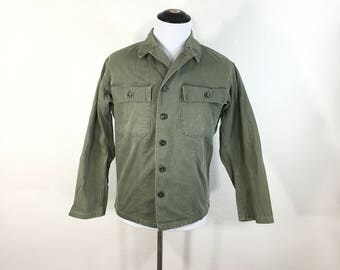 40's ww2 vintage military herringbone twill field utility jacket