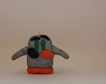 """Ornament= Penguin """"Ping"""" -Polymer Clay-"""