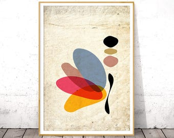 Abstract Butterfly Art Print, Modern Minimalist Artwork, Butterfly Wall Art, Abstract Poster Art, Large Abstract Decor, Dorm Art Printable