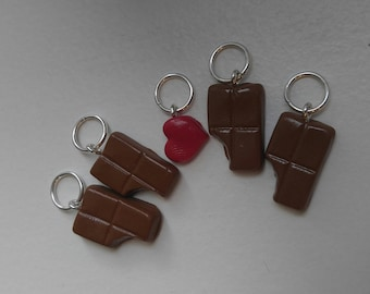 For The Love of Chocolate Stitch Markers (Set of 5)