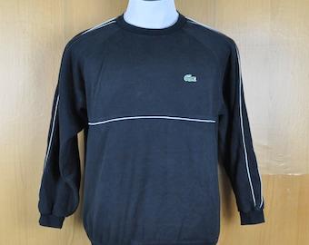 Vintage Sweater Sport Lacoste Crocodile Nice Design Sweatshirt Black Color