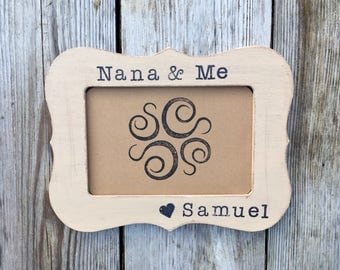 Nana frame, nana and me, grandma birthday gifts, grandmother gifts, nana gifts, grandma grandpa gifts, nana from baby, custom frame