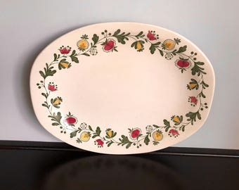 "Johnson Brother's Gretchen Green 12"" Oval Serving Platter"