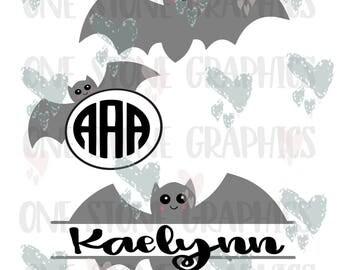 Bat svg,eps,dxf,jpeg,bat monogram svg file,bat monogram frame,cute bat,svg,halloween svg,halloween monogram svg file,bat monogram frames svg