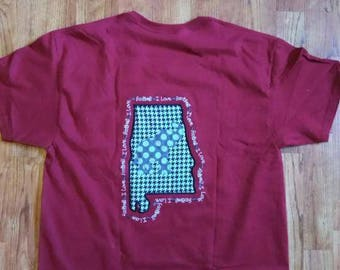 Alabama womens tshirt - football shirt -roll tide - houndstooth