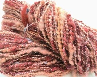 Peachy Keen - Hand Spun, Hand Dyed Alpaca Yarn