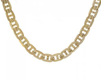 "Mens 14K Yellow Gold Gucci Link Diamond Cut Chain 24"" Inches 59.5 Grams"