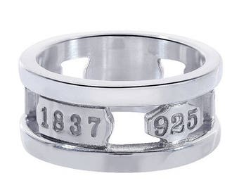 ON SALE Tiffany and Co. 1837 Wide Band 925 Sterling Silver Ring 7