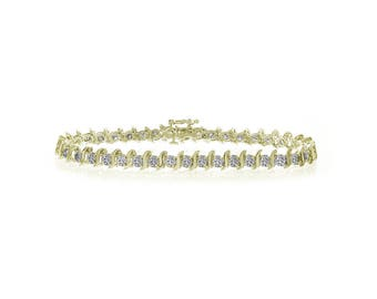 3.00 Carat Diamond Tennis Bracelet 14K Yellow Gold