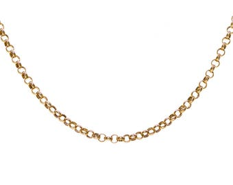 14K Yellow Gold 20 Inch Rolo Chain 5.1 Grams Made In Italy