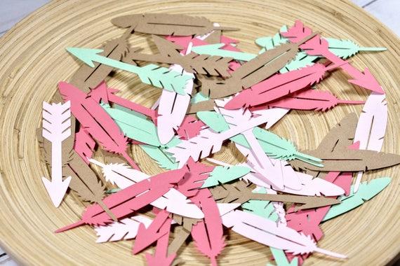 Arrow Confetti Feather Bohemian Party Decor Table