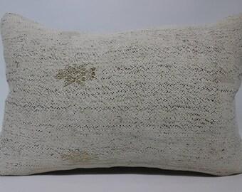 Anatolian Kİlim Pilow Sofa Pillow Ethnic Pillow 16x24 Handwoven Turkish Kilim Pillow Lubar Kİlim Pillow Bedroom Kilim Pillow SP4060-1208