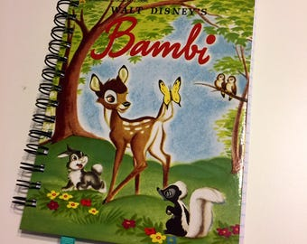 Disney Bambi Book Altered Upcycled Notebook Journal