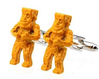 Candleholder Figrue Yellow Cufflinks -k81 Free Gift Box**