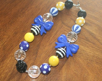 Blue & Yellow Bubblegum Necklace