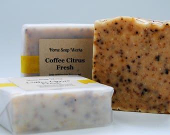 Natural Coffee Citrus Soap
