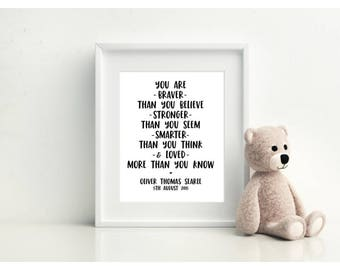 You're Braver Than You Think - Personalised