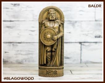 Wooden, Baldr, Baldur, Scandinavian pantheon, Norse god, scandinavian god, handmade, viking god, asatru, heathen, pagan