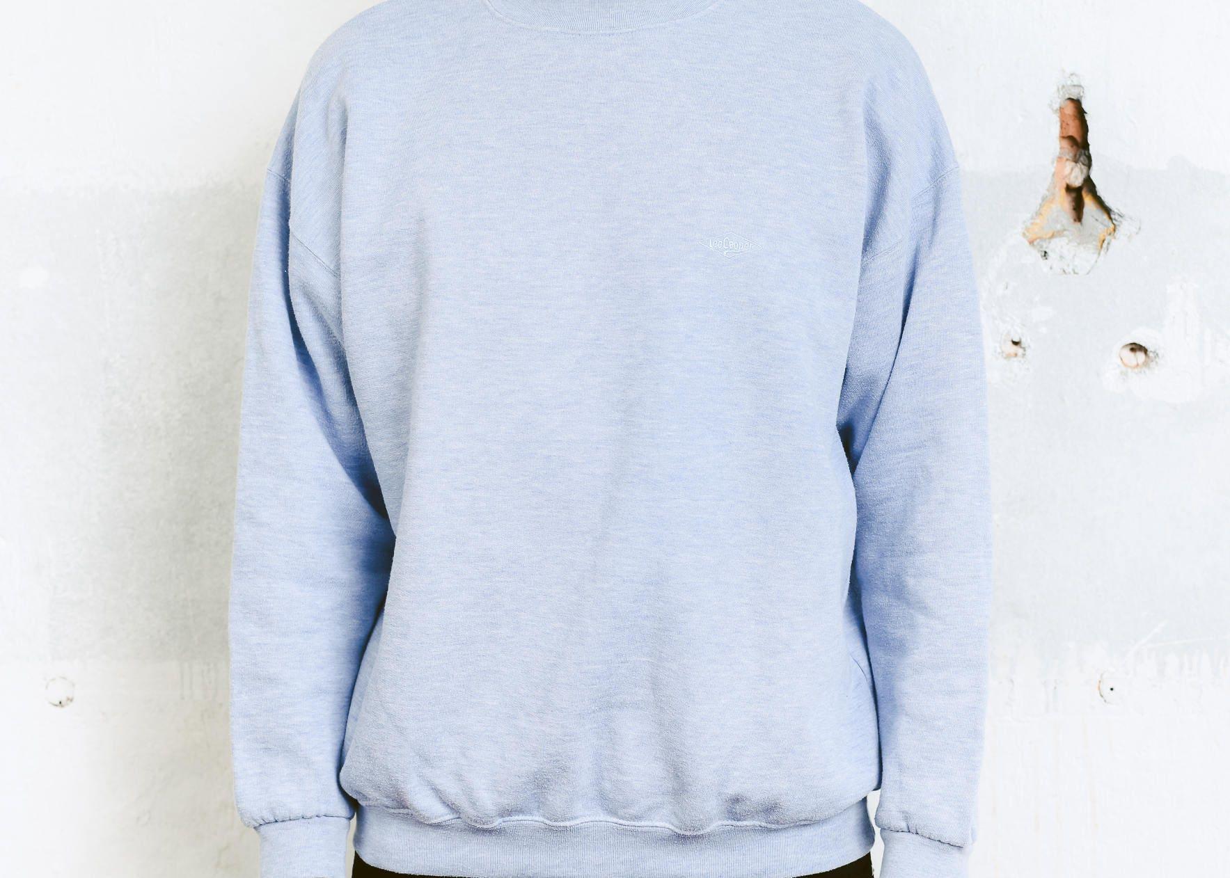 Lee Cooper Sweatshirt . Vintage 90s Pullover Light Blue Minimalist ...