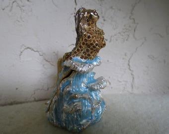 Mermaid Jeweled Enamel Trinket Box - Collectible Mermaids