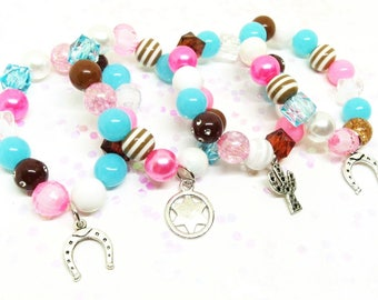 Sheriff Callie party favors bracelets with special birthday girl bracelet!