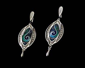 Earring by Cloisonne Enamel