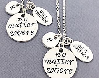 925 Sterling silver,Best Friends Necklaces - Set of Two Friendship Necklaces, Bff Charm, Friend Necklace Set, Best Friend Jewelry,fox