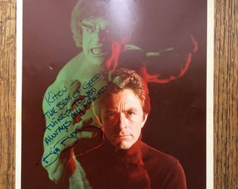 "Bill Bixby ""Incredible Hulk"" Autograph"