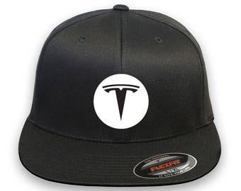 TESLA Model 3 Model S Flex Fit Hat  Cap Baseball Thermo Film-Vinyl