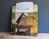 Stunning large coloured Art Deco Mirror