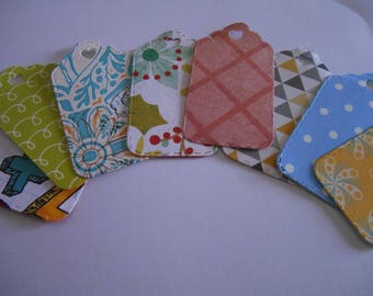Handmade Diecut Tag Cardstock Embellishments cut from Patterned Paper,  Cards, Scrapbooks, Gifts, Tags, Decorations, Card Topper