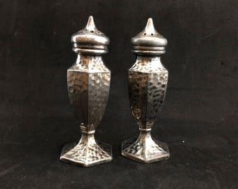 Vintage Pewter Salt and Pepper Shakers, Avon,  A-26, Salt and Pepper Shakers, Pewter Shakers, Pepper Shaker, Salt Shaker
