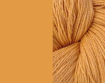 Wool Yarn, peach/beige/ocher, fingering 2-ply worsted pure lambswool 8/2 100g/350m