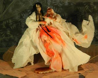 Ubume , the inconsolable mother : ooak Japanese yurei serie porcelain dolls