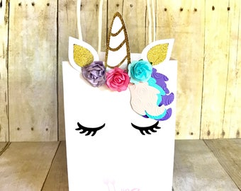 Unicorn Goodie Bags, Unicorn Favor Bags, Unicorn Party, Party Favors