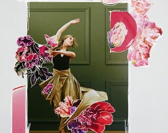 Curl | original collage art print