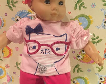 Modest Kat Three Piece Outfit For American Girl Bitty Baby