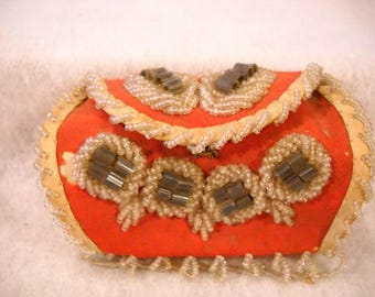 Vintage Beaded Pouch
