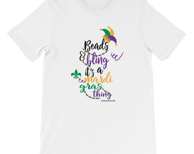 Bella Canvas Mardi Gras Short-Sleeve Unisex T-Shirt