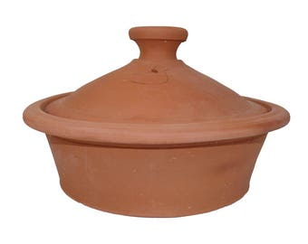 Moroccan Tajine pot for cooking unglazed Ø 30 cm for 3-4 people, deep