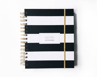 2018 planner   2018 personalized planner   2018 weekly planner   custom planner   2018 daily planner    planner   agenda