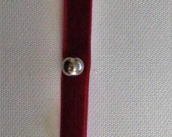 Bracelet velvet beads and bells