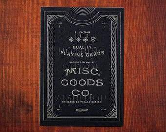 Misc Goods Playing Cards Black Deck